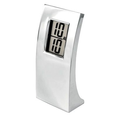Picture of ARCH DIGITAL METAL ALARM CLOCK in Silver