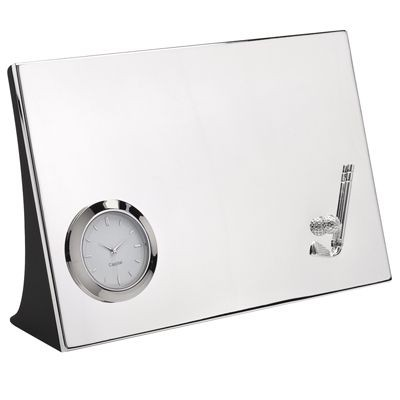 Picture of GOLF METAL DESK CLOCK in Silver