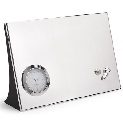 Picture of FOOTBALL METAL DESK CLOCK in Silver