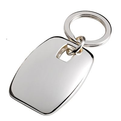 Picture of SQUARE METAL KEYRING in Silver