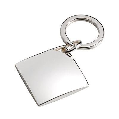 Picture of DIAMOND METAL KEYRING in Silver