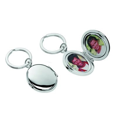 Picture of HIS & HERS PHOTO FRAME KEYRING in Silver