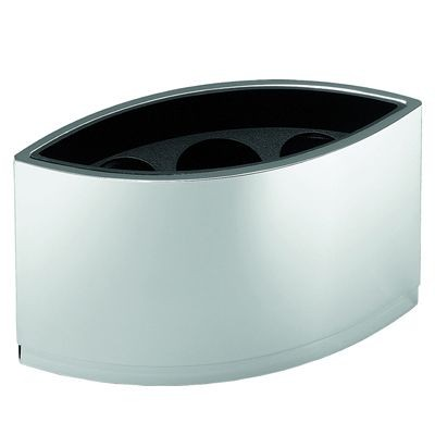 Picture of BOOMERANG METAL PEN POT in Silver