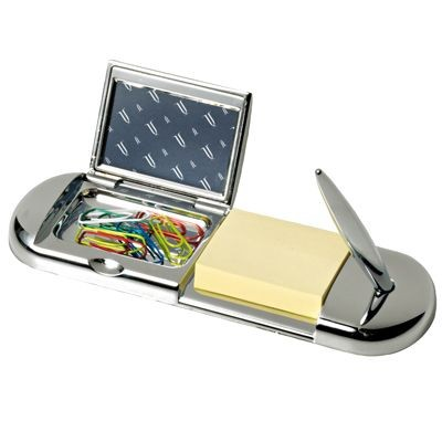 Picture of METAL DESK TIDY ORGANIZER in Silver