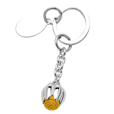 Picture of YELLOW METAL TULIP KEYRING in Silver