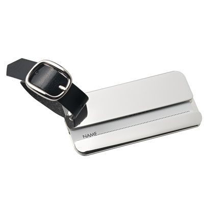 Picture of RECTANGULAR METAL LUGGAGE TAG in Silver