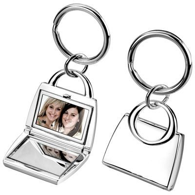 Picture of METAL KEYRING in Silver with Mirror & Photo Frame