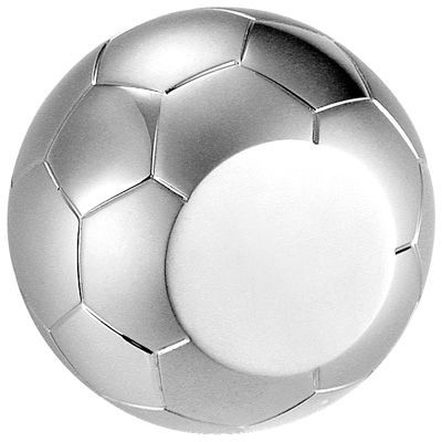 Picture of METAL FOOTBALL PAPERWEIGHT in Silver