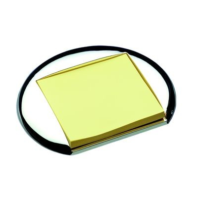 Picture of ROUND METAL POST-IT NOTE HOLDER in Silver