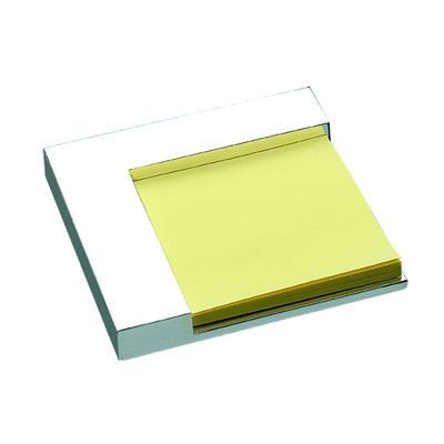 Picture of SQUARE METAL DESK POST-IT NOTE HOLDER in Silver