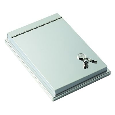 Picture of TENNIS METAL DESK MEMO PAD HOLDER in Silver