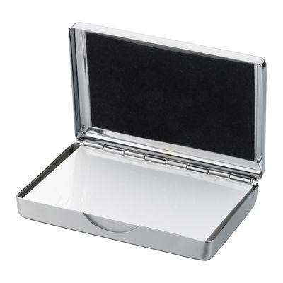 Picture of SMOOTH BOX MEMO NOTE PAD HOLDER in Silver