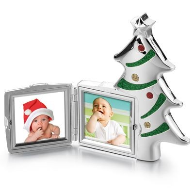 Picture of SANTA TREE METAL PHOTO FRAME in Silver