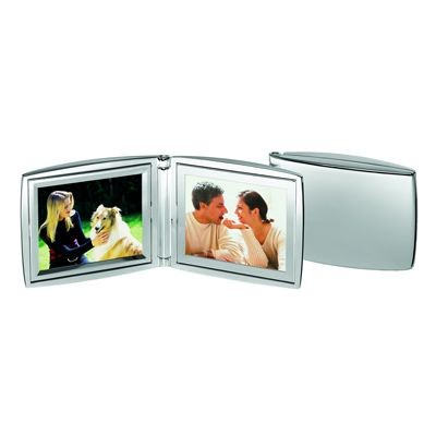 Picture of DOUBLE METAL PHOTO FRAME in Silver