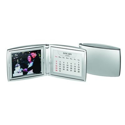 Picture of PERPETUAL METAL CALENDAR & PHOTO FRAME in Silver