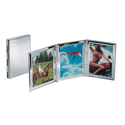 Picture of 3 PICTURES MINI METAL PHOTO FRAME in Silver
