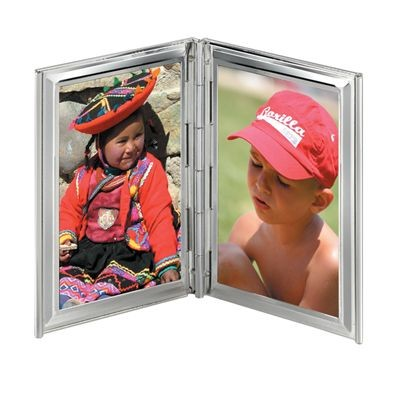 Picture of SMOOTH 2 PICTURES METAL PHOTO FRAME in Silver