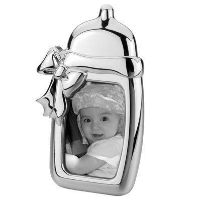 Picture of BABY BOTTLE METAL PHOTO FRAME in Silver