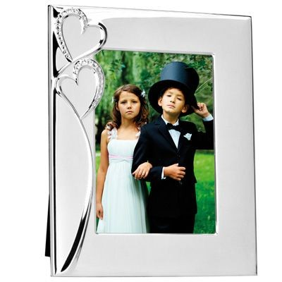 Picture of METAL PHOTO FRAME in Silver with Hearts