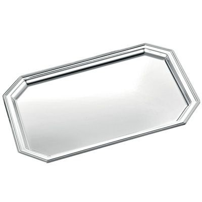 Picture of OCTAGONAL METAL TRAY in Silver
