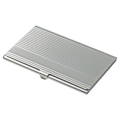 Picture of LINEA POCKET BUSINESS CARD HOLDER in Matt Silver