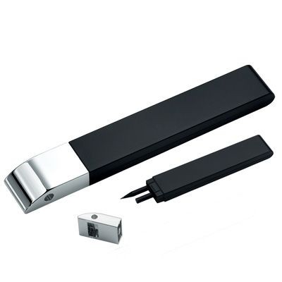 Picture of METAL PENCIL HOLDER in Silver with Blitz Sharpener