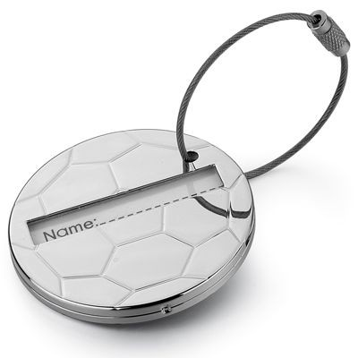 Picture of FOOTBALL METAL LUGGAGE TAG in Silver