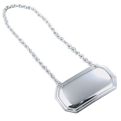Picture of METAL WINE BOTTLE TAG in Silver