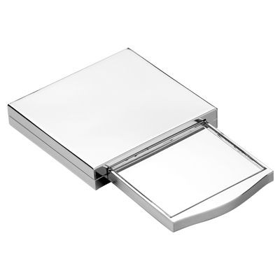 Picture of FOLDING METAL LADIES COMPACT MIRROR in Silver