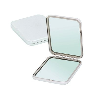 Picture of PICTURE DOUBLE METAL LADIES HANDBAG COMPACT MIRROR in Silver