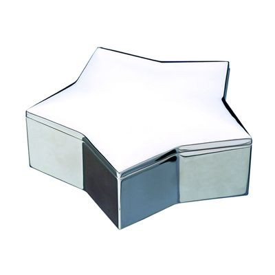 Picture of STAR METAL TRINKET BOX in Silver