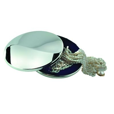 Picture of WAVE METAL TRINKET BOX in Silver