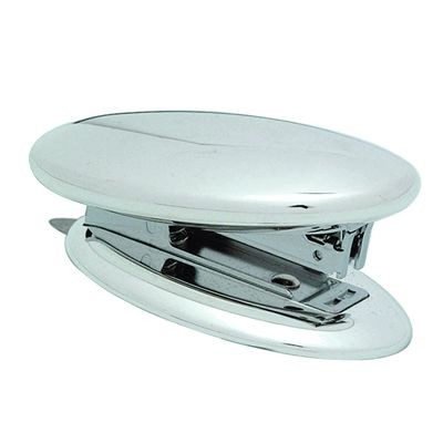 Picture of OVAL METAL DESK STAPLER in Silver