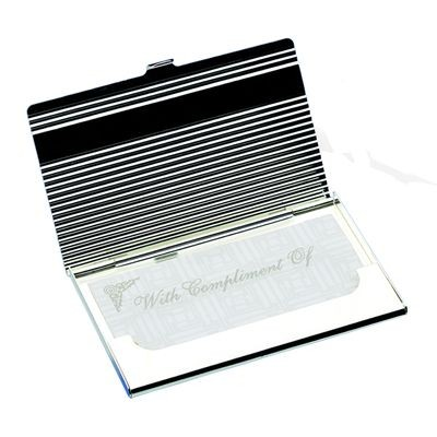 Picture of LINEA POCKET BUSINESS CARD HOLDER in Silver