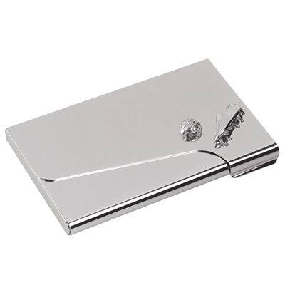 Picture of FOOTBALL DESIGN POCKET BUSINESS CARD HOLDER in Silver