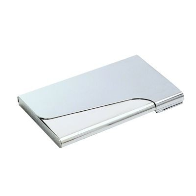 Picture of CAPRI SMOOTH DESIGN METAL POCKET BUSINESS CARD HOLDER in Silver