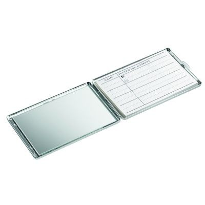 Picture of MARVIN METAL PHONE BOOK & MIRROR in Silver