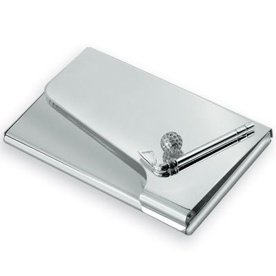 Picture of GOLF POCKET BUSINESS CARD HOLDER in Silver