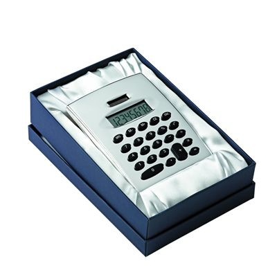 Picture of JUMBO METAL DESK CALCULATOR in Silver