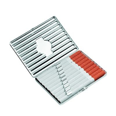 Picture of METAL POCKET CIGARETTE CASE in Silver