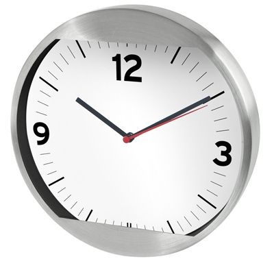 Picture of ALUMINIUM SILVER METAL WALL CLOCK