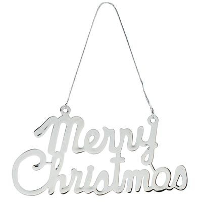 Picture of MERRY santa PENDANT DECORATION in Silver Metal