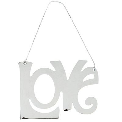 Picture of LOVE PENDANT DECORATION in Silver Metal