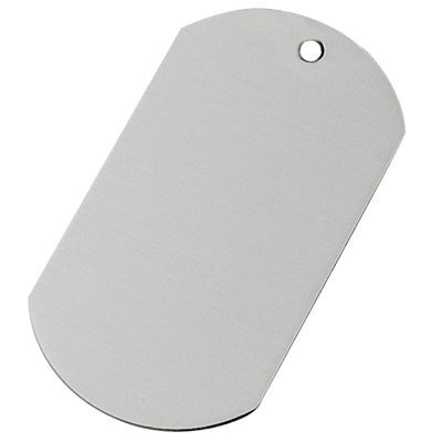 Picture of ALUMINIUM SILVER METAL DOG TAG