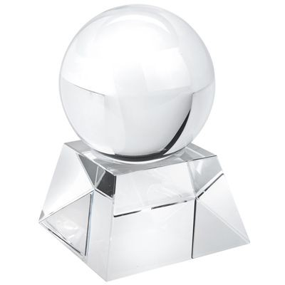 Picture of BALL AND BASE PAPERWEIGHT in White Glass