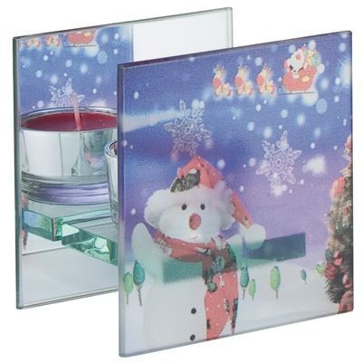 Picture of GLASS TEA LIGHT CANDLE HOLDER FOR 1 CANDLE
