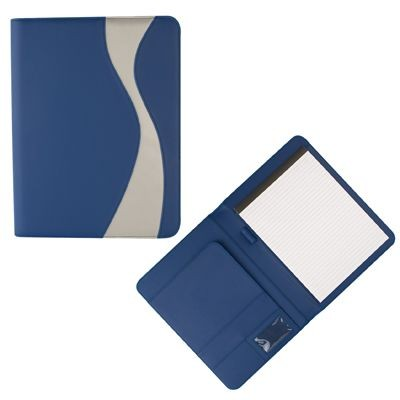 Picture of PU CONFERENCE FOLDER in Blue & Silver