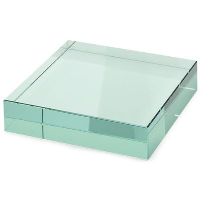 Picture of SQUARE GREEN GLASS PAPERWEIGHT