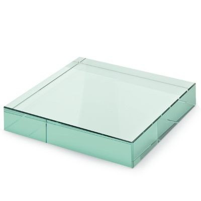 Picture of RECTANGULAR GREEN GLASS PAPERWEIGHT