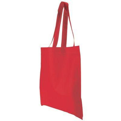 NON WOVEN SHOPPER TOTE BAG in Red